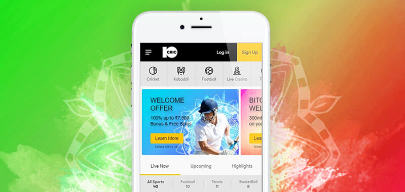 10CRIC mobile app for betting in India.