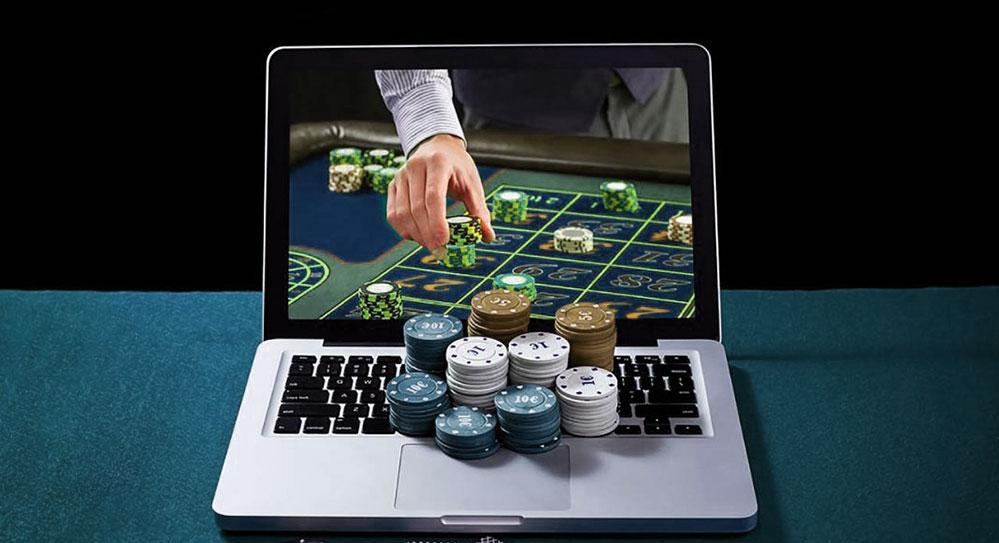 Online casino gaming.